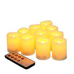 10 Pack Battery Operated Electric Flameless LED Votive Candl