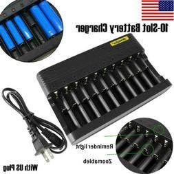 10 slot universal charger for 18650 16340