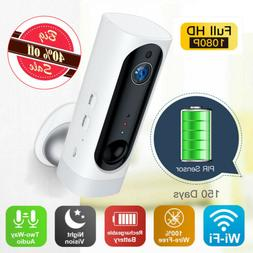 1080P 100% Wire Free Battery WIFI Camera Wireless PIR Indoor