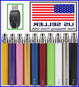 2x 1100mAh eGo-T Battery Replacement 2 Pack Vape-pen USB Cha