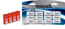 12 Energizer CR123A Lithium 3V Lithium Batteries with Storac