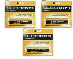 12 x AA Duracell Procell Alkaline Batteries 1.5V  3 packs of