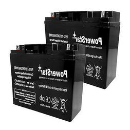 PowerStar 2PACK - 12V 22Ah UPS Battery Replaces 20Ah Kung Lo