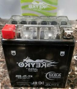 12v 7ah Powersports GEL Battery - Replaces: YTX7L-BS, PTX7