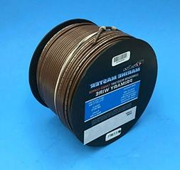 DEKA 14AWG BROWN Marine Tinned Copper Boat Stranded Wire 100