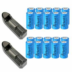 16340 battery 1800mah cr123a rechargeable 3 7v