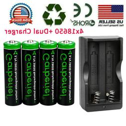2X 18650 6800mAh Li-ion Battery 3.7V Rechargeable For Flashl