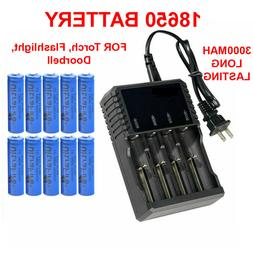 18650 Battery Li-ion 3.7V Rechargeable Batteries For LED Fla