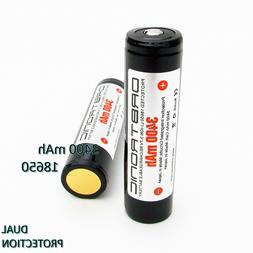 3400mAh 18650 Battery ORBTRONIC Protected Button Top Recharg