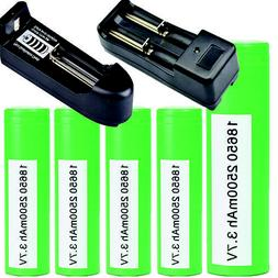 Samsung INR 18650 25R 2500mAh 20Amp Flat Top Rechargeable Ba
