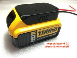 battery adapter for DeWALT 20v Max 18v dock power connector