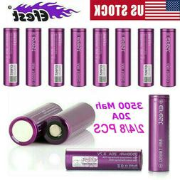 2/4/8X Efest IMR 18-650 20A 3500mAh Rechargeable Battery Hig