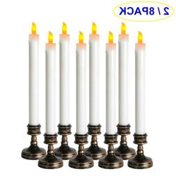 2/8Pcs LED Flameless Taper Flickering Battery Operated Candl