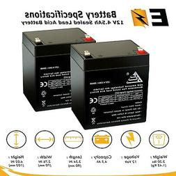 Set of 2 - 12V 4.5Ah Scooter Battery Replaces 4.5Ah Enduring