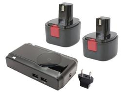 2 pack battery charger eu adapter compatible