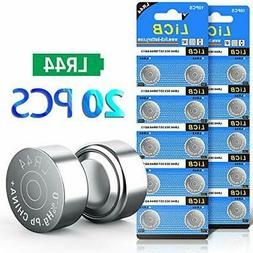 LiCB 20 Pack LR44 AG13 357 303 SR44 Battery 1.5V Button Coin