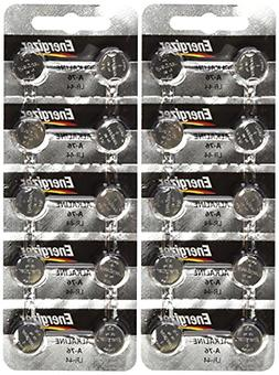 20 Pck Energizer LR44 1.5V Button Cell Battery LR44 CR44 SR4