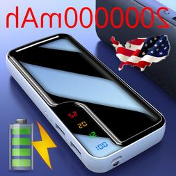 20000000mah portable external battery charger dual usb