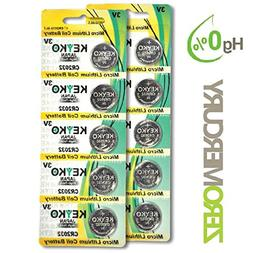 2032 Battery - 10 pcs Pack - 3V Lithium Buttom Coin Cell Bat