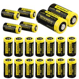 20Pcs Garberiel 1300mAh 123A CR123A 3 Volt Lithium Batteries