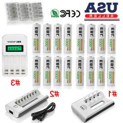 EBL Lot 2300mAh AA Rechargeable Batteries / Charger For AA A