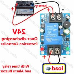 24V Battery Low Voltage Cut off Switch Controller Excessive
