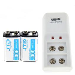 2pcs 9V 9 Volt 900mAh Power Ni-Mh Rechargeable Battery Cell