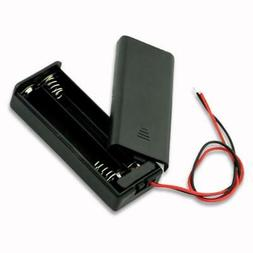 2x 2-AAA Slots Battery Spring Clip 3V Holder Case Plastic Wi