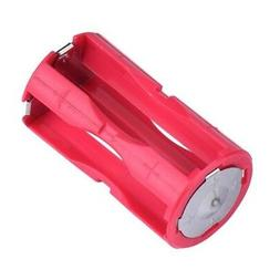 2x 4-AAA Battery Holder Cylindrical Plastic For Flashlight R