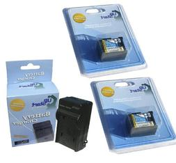 2x Pack - Canon VIXIA HF G20 Battery + Charger - Replacement