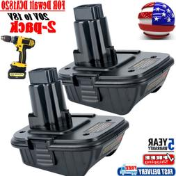 2X For Dewalt DCA1820 Battery MAX 20V to 18V DC9096 Battery
