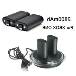 2x Rechargeable Battery + Charging Charge Dock Station for X