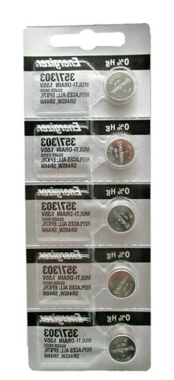 Energizer 357/303 Silver Oxide Coin Cell Batteries SR44SW 5