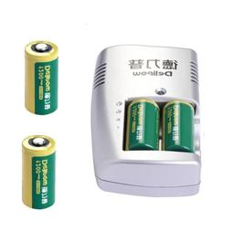 3V 1200mAh CR123A 16340 Rechargeable Li-ion Battery & Charge