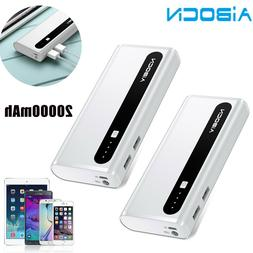 2x 10000mAh Power Bank Dual USB Portable Battery Charger + T