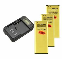 4500mAh Golden Battery /  Charger For Samsung Galaxy Note 4