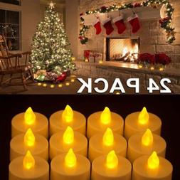 48PC Flameless Votive Candles Battery Operated Flickering LE