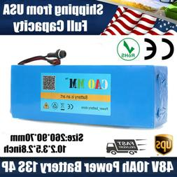48V 10Ah Lithium li-ion Battery Pack 700W ebike Electric Bic