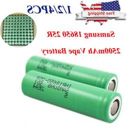 4Pc Samsung 18650 25R 2500mAh 35A Rechargeable Battery for V