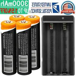 4x 18650 Battery 3.7V Li-ion Rechargeable Battery For Torch