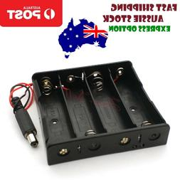 4x18650 Battery Holder 14.8V Storage Box Case Leads Wires wi
