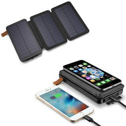 2000000mAh Solar Panel Qi Wireless External Battery Charger