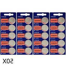 50Pcs SONY Lithium CR2032 Batteries 3V Coin Cell DL2032 for