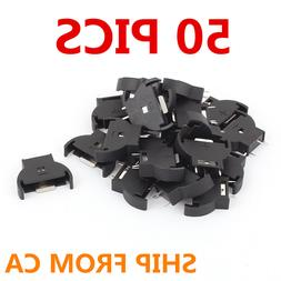 50Pcs New CR2025&2032&2016 Battery Button Coin Cell Holder S