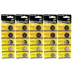 5x 5pk 3V Lithium Coin Cell Battery CR2032 Replaces BR2025-1