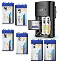 600mah 9v lithium ion battery dual charger