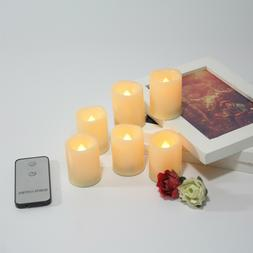 6PCS Flameless Battery Operated LED Votive Candles Waved-Top