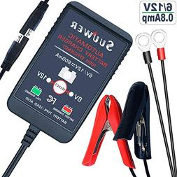 Suuwer 6V/12V 800mA is a Super Smart Battery Charger That Wi