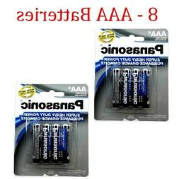 8 Wholesale Panasonic AAA Triple A Batteries heavy Duty Batt