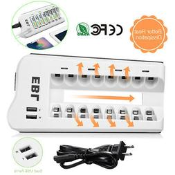 8 Bay AA AAA NI-MH NI-CD Rechargeable Battery Charger with D